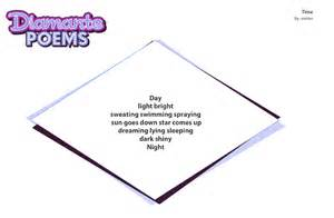 Diamante Poem Template by Blank Diamante Poem Template Book Covers
