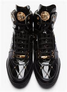 shoes of the day versace gold medusa quilted black patent