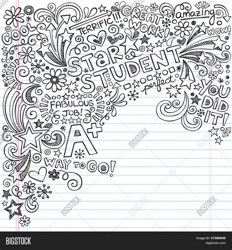 doodle 4 application form a student scribble inky doodles back to