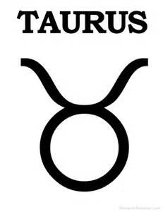 printable taurus zodiac sign print taurus symbol