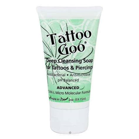 tattoo care no lotion tattoo goo deep cleansing soap 2oz