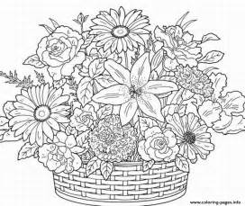 flower coloring pages for adults printable coloring pages for adults flowers az coloring
