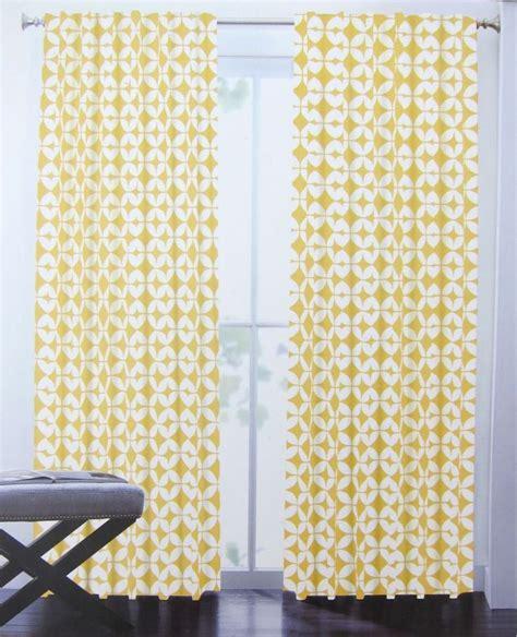 yellow curtain panels 96 max studio trellis moroccan tiles geometric 2 window