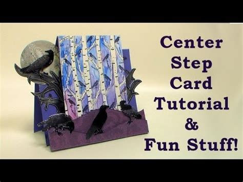 how to make a center step card youtube