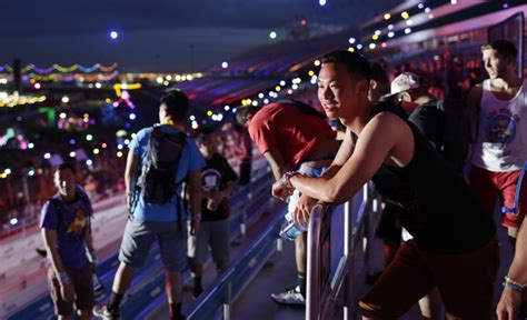 Las Vegas Speedway Lights Pictured Electric Daisy Carnival Lights Up Vegas Daily
