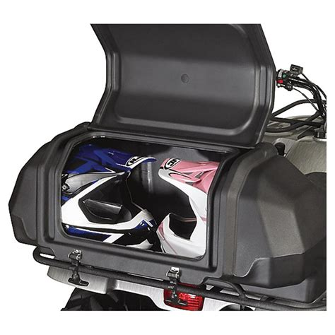 atv rear cargo seat canada kolpin atv rear lounger with lockable helmet storage box