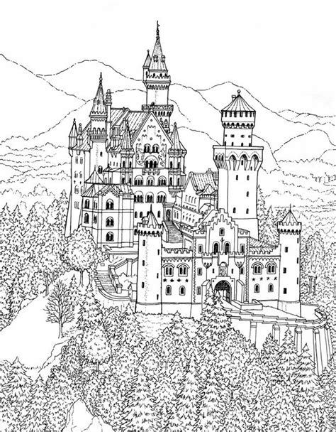 german castle coloring page desenhos para colorir e desestressar baixe e imprima a