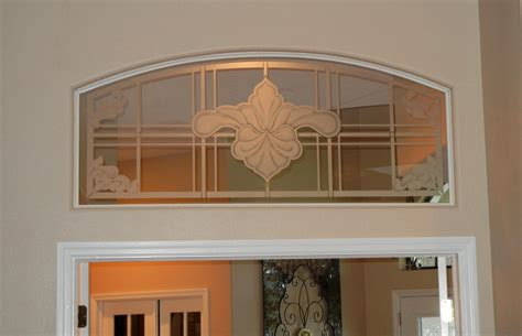 transoms above interior doors etched glass transom to match the front doors the glass