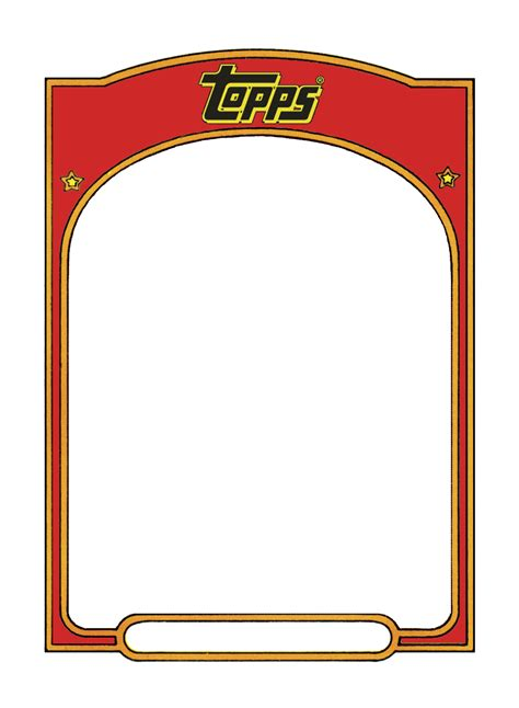 Topps Card Template by Sports Trading Card Templet Craft Ideas