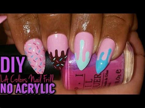 la color nail diy press on stiletto nails la colors nail frill