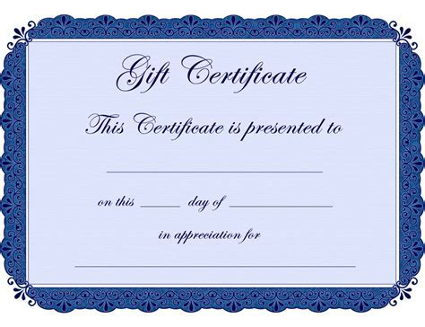 Gift Certificate Custom Mala Shop Shopping Certificate Template