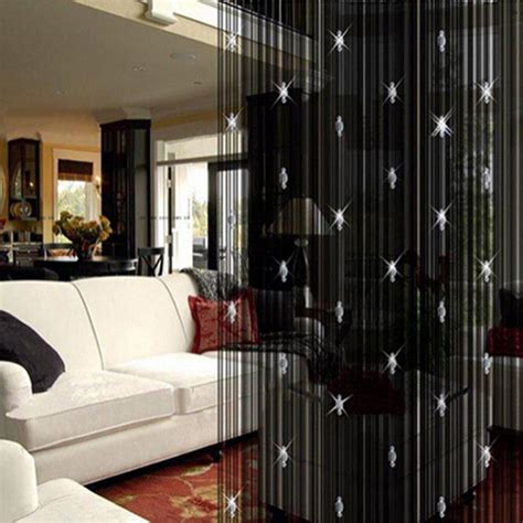 black door curtain black door beads curtain window treatments design ideas