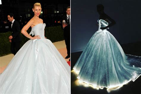 claire danes wedding dress claire danes lights up the met gala with fiber optic dress