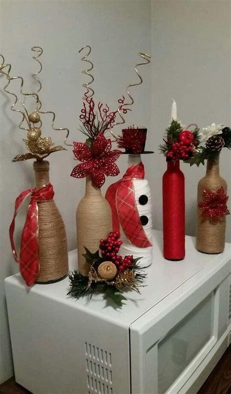 como decorar botellas de vidrio navidad decoraci 243 n navide 241 a con botellas de vidrio dale detalles