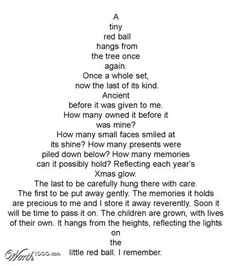 christmas tree shape poem google search christmas tree