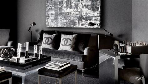 all black living room chanel pillows contemporary living room