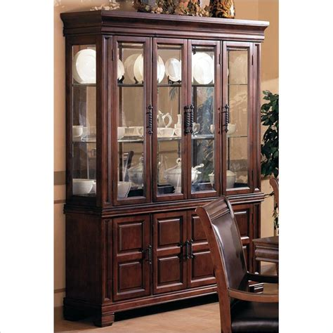 1 419 coaster westminster china cabinet in rich brown
