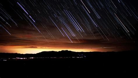wallpaper night stars sunset space