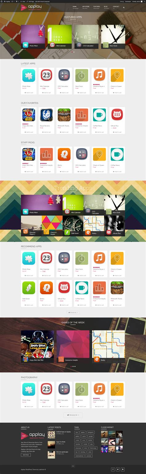 app showcase themes applay wordpress app showcase app store theme by