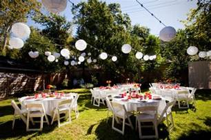Backyard Wedding Centerpiece Ideas Planning A Backyard Wedding On A Budget Wedding Planning