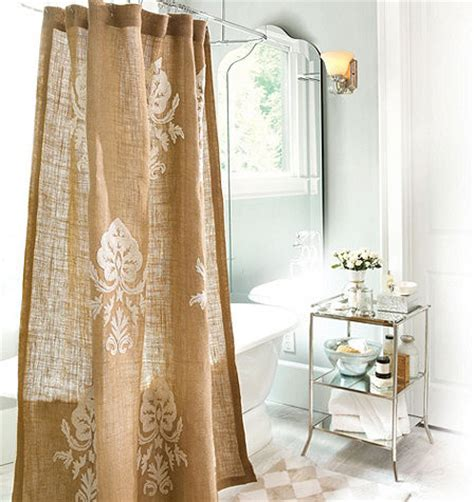 Houzz Kitchen Curtains Burlap Crewel Damask Shower Curtain Traditional Shower Curtains By Ballard Designs