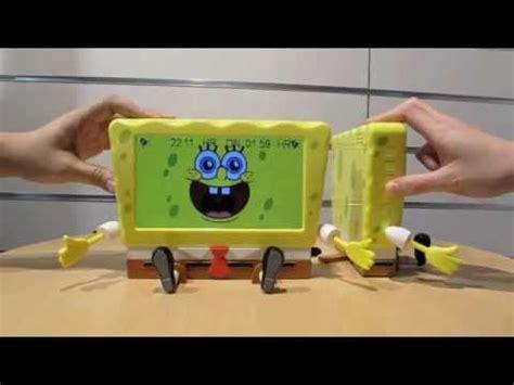 spongebob 7 quot digital photo frame alarm clock