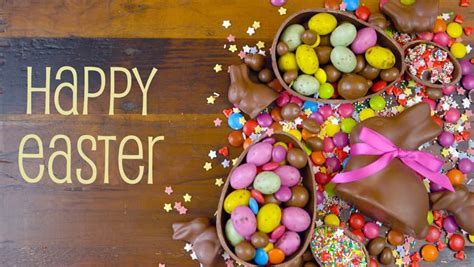 happy easter decadent chocolate background stock footage video  royalty