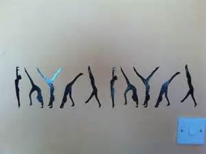 gymnastics wall stickers items similar to gymnastic wall art vinyl stickers decals
