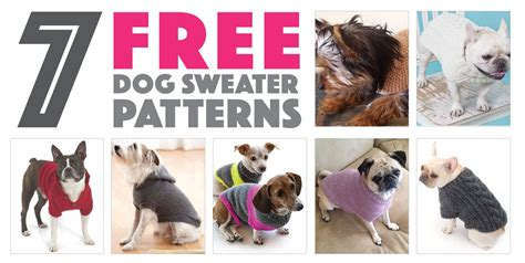 Lovely Christmas Knitting Patterns For Dogs #3: Free-dog-sweater-patterns-cover-1.jpg?fit=1200%2C605