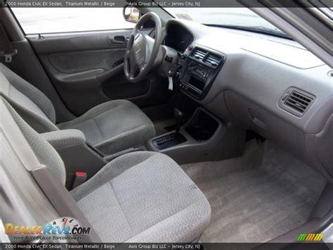 2000 Honda Civic Ex Coupe Interior by Beige Interior 2000 Honda Civic Ex Sedan Photo 12