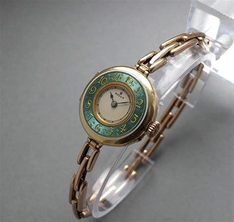 sold rolex 18k solid gold vintage c1923