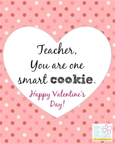 printable valentine card for teacher smart cookie valentine for your teacher free printable