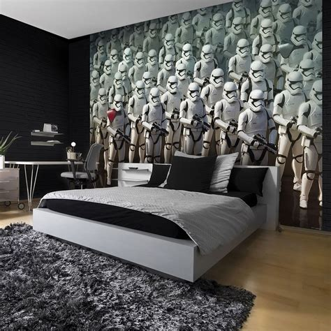 star wallpaper bedrooms star wars stormtrooper wall mural dream bedroom star