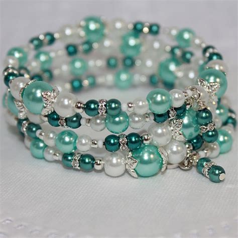 how to make a beaded bracelet with wire memory wire beaded bracelet wrist wrap glass and glass