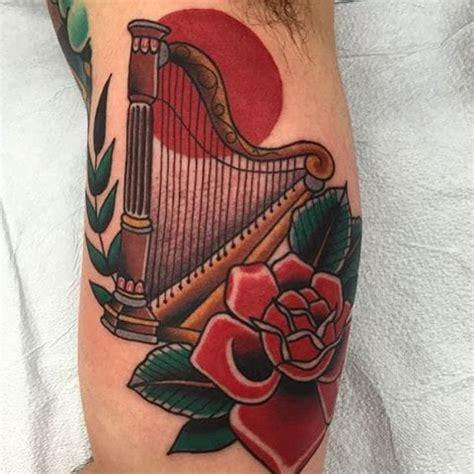 harp tattoo designs 12 cool harp designs
