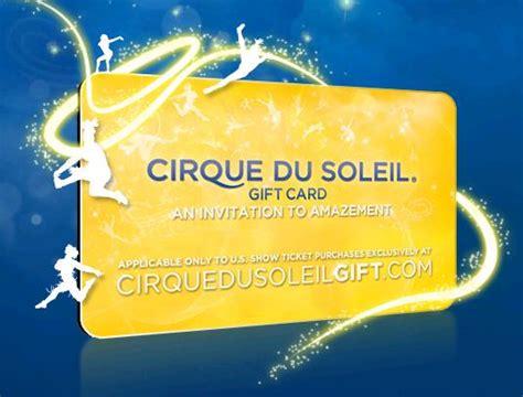cirque du soleil gift card - Cirque Du Soleil Gift Card