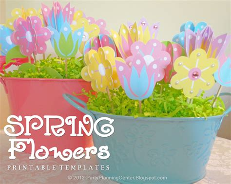 party planning center free printable paper flowers templates