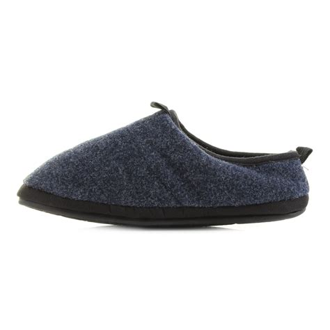 Bedroom Athletics Navy Slippers Mens Bedroom Athletics Travolta Navy Fleece Lined Mule