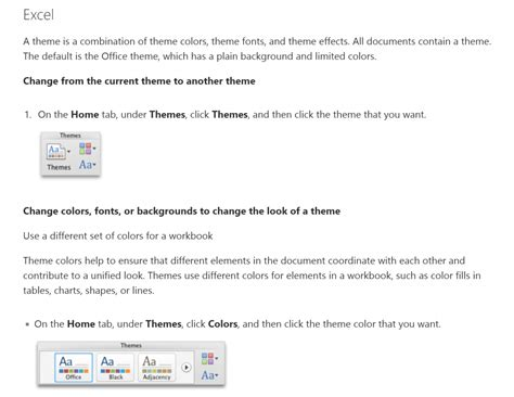themes in excel 2011 excel hints