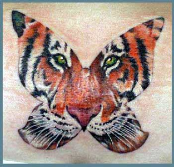 tattoo butterfly tiger face tiger butterfly tattoo