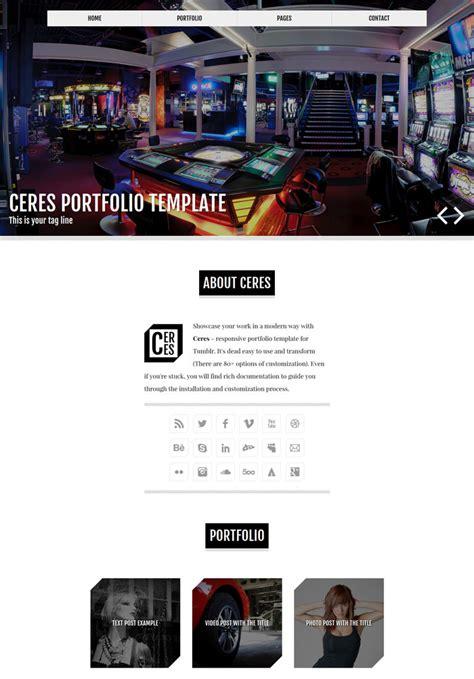 portfolio tumblr theme free html 25 amazing premium portfolio tumblr themes