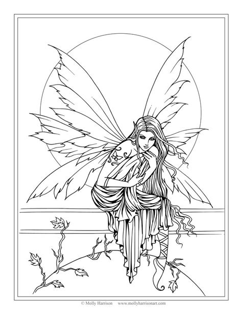 coloring books beautiful fairies 35 unique illustrations books free coloring page by molly harrison
