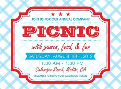 picnic invitation card template free printable picnic invitation template search