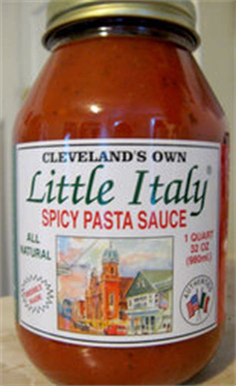 cleveland's own little italy spicy pasta sauce: to market