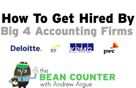 Mba Cpa Big 4 by Quot How To Get Hired By Big 4 Accounting Firms Quot Webinar