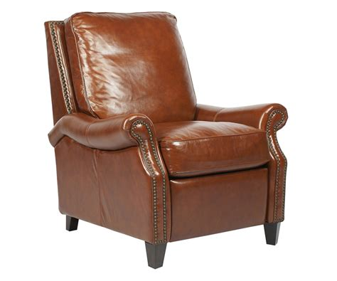 traditional leather recliner traditional leather club chair recliner with nail trim