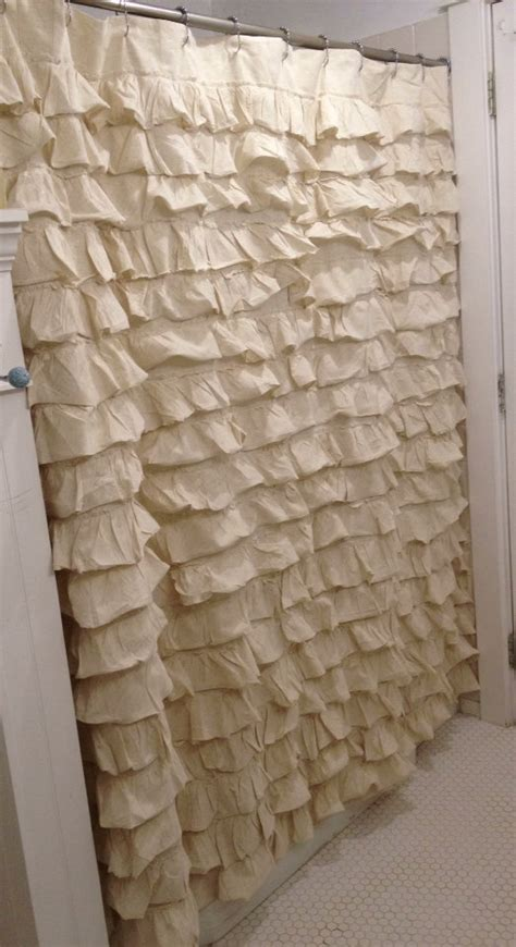 cream ruffle curtains gorgeous cream ruffled shower curtain country cottage