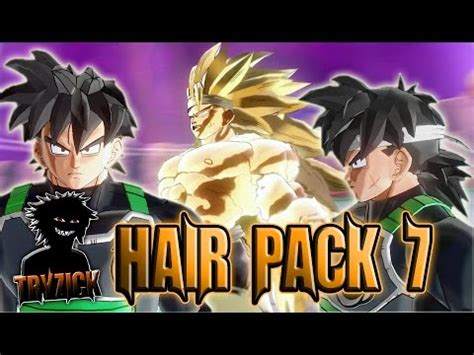 hairstyles xenoverse mod dragonball xenoverse 2 hair pack 7 pc mod tryzick youtube