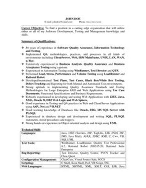 qa software tester resume sle entry level creative