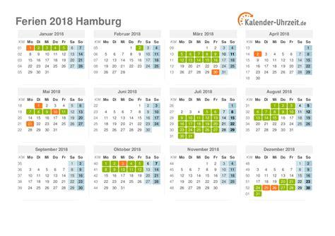 Kalender 2018 Hamburg Schulferien Ferien Hamburg 2018 Ferienkalender Zum Ausdrucken